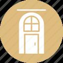beauty salon, building door, door, entrance, salon, spa icon