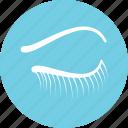 beauty, eye, eyelashes, lashes, lashes extension icon