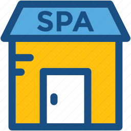 beauty salon, building, salon, spa, spa building icon