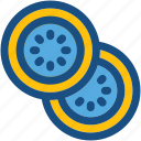 citrus, fruit slice, half lemon, lemon slice, spa treatment icon