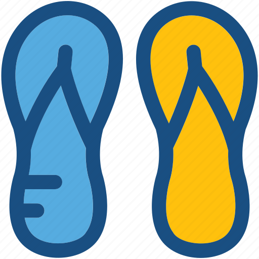 beach sandals, flip flops, footwear, home slippers, slippers icon