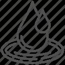 drop, liquid, nature, ocean, water icon