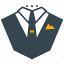 business, casual, clothes, formal, suit, wear icon