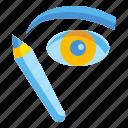 cosmetics, eyebrow, grooming, makeup, pencil icon