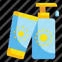 cream, skincare, sun, sunscreen icon