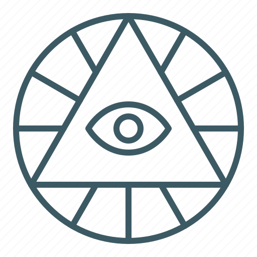eye, god, providence, pyramid, triangle icon