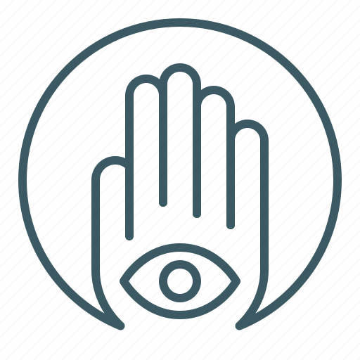 eye, foresight, hamsa, hand, inner, sight icon