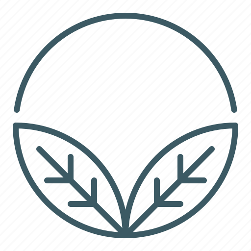 circle, leaves, natural, organic icon