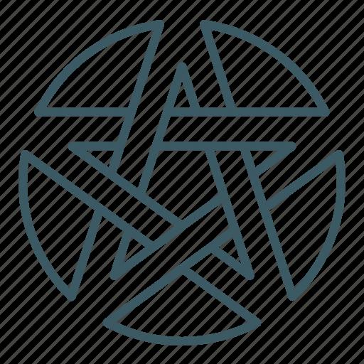 alchemy, circle, magic, pentagram icon