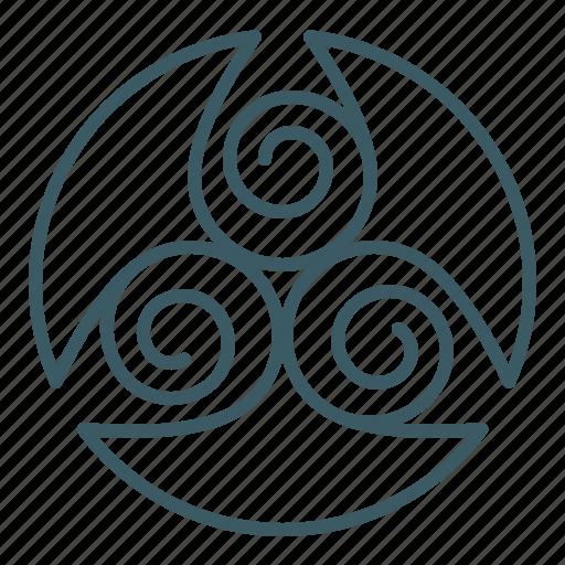 drop, sign, spa, spiral, trinity, triskelion icon