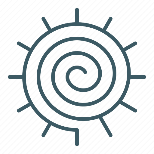 Meditation, sign, spiral, sun, yoga icon - Download on Iconfinder