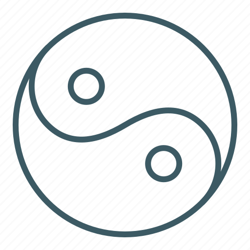 balance, circle, cultural, harmony, sign, yin yang icon