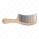 beauty, hair comb, hand drawn icon