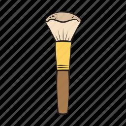beauty, hand drawn, powder brush icon