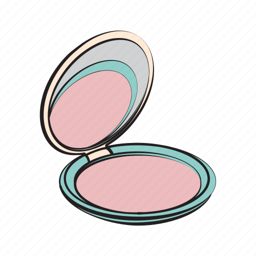 beauty, face powder, hand drawn icon