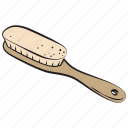 beauty, hair brush, hand drawn icon