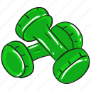 barbell, dumbbells, fitness tool, gym equipment, heavy lifting, workout icon