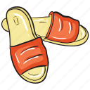 casual footwear, footwear, home slippers, slipper, slippers, spa shoes icon