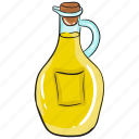bottle, cooking oil, massage oil, oil, olive oil, vegetable oil icon