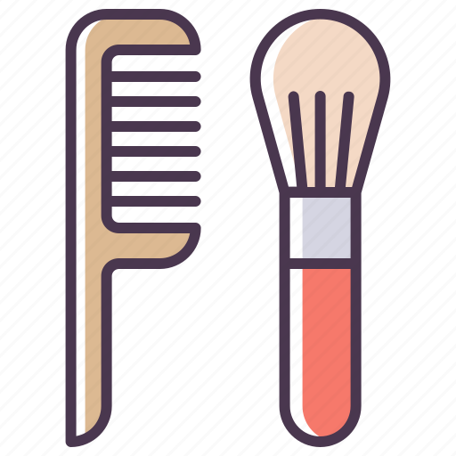 beauty, brush, care, cosmetcis, hair, hairbrush, tools icon