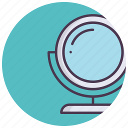 beauty, care, cosmetics, makeup, mirror, table mirror icon