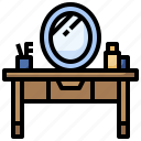 dresser, furniture, dressing, mirror, table