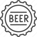 bar, beer, bottle, brewery, cap, pint, pub icon