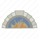 bar, fire place, heat, pub, warm icon