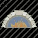 bar, fire place, heat, pub, warm icon