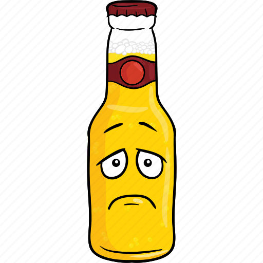 alcohol, beer, bottle, brew, cartoon, emoji icon
