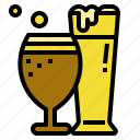 beer, beverage, drink, glasses icon