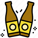 beer, bottles, celebration, cheers, salud icon