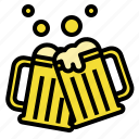 beer, cheers, mug, party, prost icon