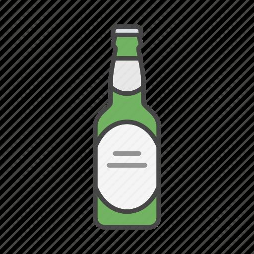 alcohol, ale, beer, beer bottle, beverage, bottle, drink icon