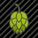 ale, beer, brewing, cone, hop, hop cone, plant icon