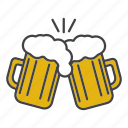 alcohol, beer, beer mug, cheers, ele, glass, toast icon
