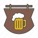 alehouse, bar, beer, beer mug, pothouse, pub, signboard icon
