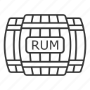 alcohol, barrel, cask, keg, rum, rum barrel, wooden barrel icon