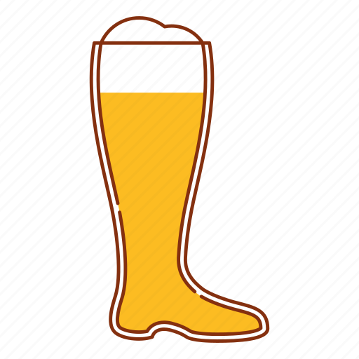 ale, beer, boot, brew, drink, glass icon