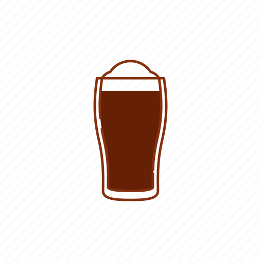 beer, brew, froth, glass, guinness, pint, stout icon