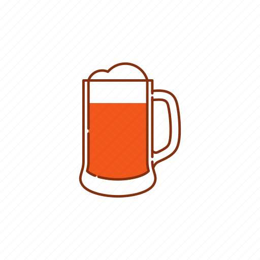 beer, brew, froth, glass, jar, lager, mug icon