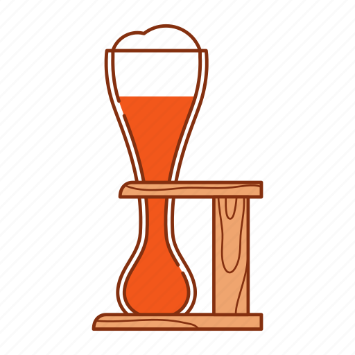 ale, beer, brew, froth, glass, goblet, kwak icon