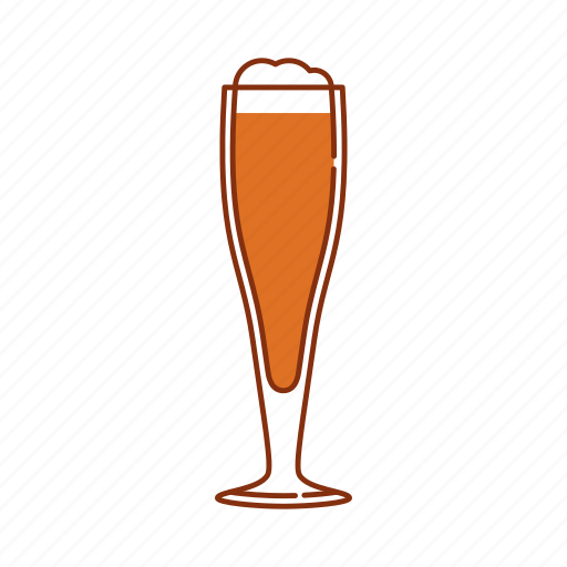 ale, amber ale, beer, brew, froth, glass, goble icon