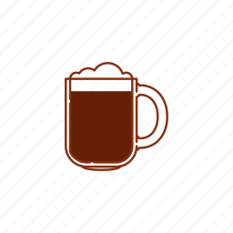 beer, froth, glass, mug, pint, stout, strong beer icon