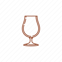 beer, glass, snifter, tulip icon