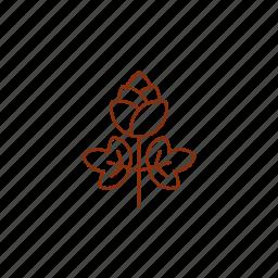 beer, hop, logo, plant icon