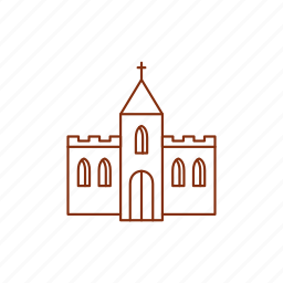 abbey, beer, church, house icon