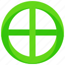 belief, circle, cross, religion, religious, symbols icon
