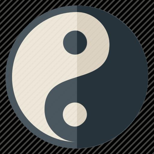 balance, belief, peace, symbols, taoism, yang, ying icon