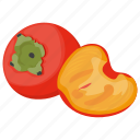 berry fruit, fruit, japanese fruit, persimmons, pulpy fruit icon